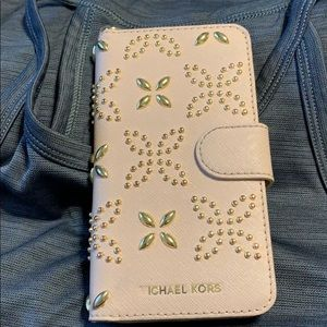 Michael Kor's Dusty Rose Phone Case/Wallet